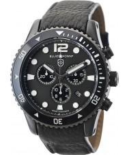 Elliot Brown 929-001-L01 Męska Bloxworth czarny skórzany pasek zegarka Chronograph