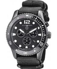 Elliot Brown 929-001-N02 Męska Bloxworth tkaniny czarny pasek zegarka Chronograph