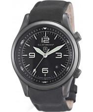 Elliot Brown 202-004-R06 Mężczyźni Canford czarny matowy skórzany pasek zegarka