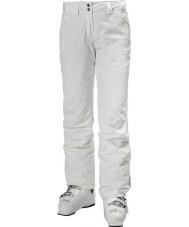 Helly Hansen Legendarne białe spodnie narciarskie damskie