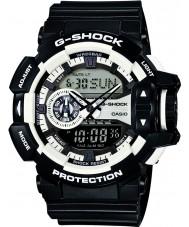 Casio GA-400-1AER Mężczyźni g-shock zegarek chronograf biały czarny