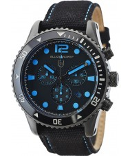 Elliot Brown 929-006-C02 Męska Bloxworth tkaniny czarny zegarek chronograf