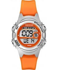 Timex TW5K96800 Maraton Ladies średniej wielkości żywicy pomarańczowy pasek zegarka Chronograph