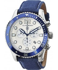 Elliot Brown 929-008-C01 Męska Bloxworth tkaniny niebieski pasek zegarka Chronograph