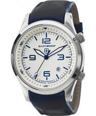 Elliot Brown 202-001-L06 Mężczyźni Canford niebieski skórzany pasek zegarka