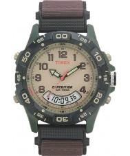 Timex T45181 Mężczyźni kremowy brązowy wyprawa kombi zegarek