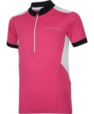 Dare2b DKT018-1Z0034 Dzieci ochoczo elektryczny różowa Koszulka T-shirt - 34 cali