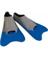 Zoggs 300395 Ultra niebieski i szary płetwy treningowe - rozmiar uk 12
