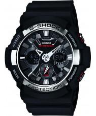 Casio GA-200-1AER Mężczyźni g-shock czas światowy czarny zegarek chronograf