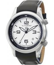 Elliot Brown 202-005-L02 Mężczyźni Canford czarny skórzany pasek zegarka