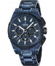 Festina F16973-1 Męskie Chrono rower niebieski zegarek chronograf ze stali