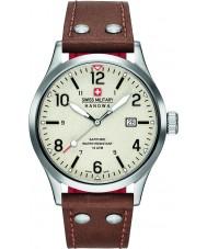 Swiss Military 6-4280-04-002-05 Mens tajnych brązowy skórzany pasek zegarka