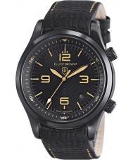 Elliot Brown 202-008-L11 Mężczyźni Canford czarny skórzany pasek zegarka