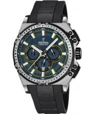 Festina F16970-3 Męskie Chrono rowerów czarnej gumy Chronograph zegarek