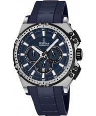 Festina F16970-2 Męskie Chrono rower blue rubber Chronograph zegarek