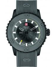 Swiss Military 6-4281-27-007-30 Mężczyźni zmierzch szary pasek silikonowy zegarek