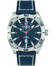 Swiss Military 6-4282-04-003 Mężczyźni mistrz niebieski skórzany pasek zegarka