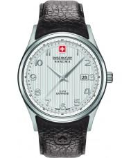 Swiss Military 6-4286-04-001 Męska navalus brązowy skórzany pasek zegarka