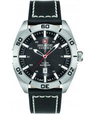 Swiss Military 6-4282-04-007 Mężczyźni Champ czarny skórzany pasek zegarka