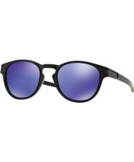 Oakley Oo9265-06 zatrzask czarny matowy - iryd fioletowe okulary