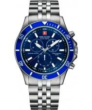 Swiss Military 6-5183-7-04-003 Mężczyźni flagowy chrono srebrny zegarek