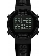 Superdry SYG203BB Mężczyźni digi krokomierz czarny silikonowy pasek zegarka