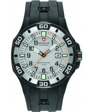 Swiss Military 6-4292-27-009-07 Męska Bermuda czarny silikonowy pasek zegarka