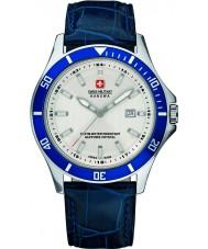 Swiss Military 6-4161-2-04-001-03 Mężczyźni flagowy niebieski skórzany pasek zegarka