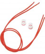 Zone3 Z14278 Elastyczne czerwone sznurowadła