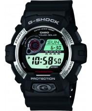 Casio GR-8900-1ER Mężczyźni g-shock zasilany energią słoneczną czarna żywica pasek zegarka