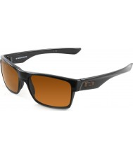 Oakley Oo9189-03 Dwie Twarze polerowana czarna - ciemne brązowe okulary