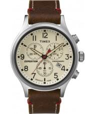 Timex TW4B04300 Mężczyźni wyprawa scout brązowy skórzany zegarek chronograf