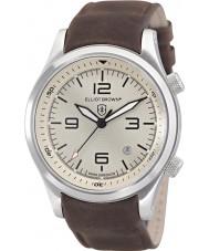 Elliot Brown 202-003-L08 Mężczyźni Canford czekoladowy brąz skórzany pasek zegarka