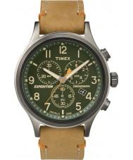 Timex TW4B04400 Mężczyźni wyprawa scout tan skórzane Chronograph zegarek