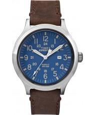 Timex TW4B06400 Mężczyźni wyprawa scout brązowy skórzany pasek do zegarka