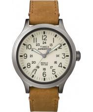 Timex TW4B06500 Mężczyźni wyprawa scout tan skórzany pasek zegarka