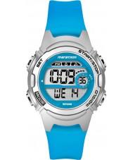 Timex TW5K96900 Maraton Ladies średniej wielkości żywicy niebieski pasek zegarka Chronograph