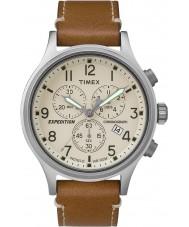 Timex TW4B09200 Mężczyźni wyprawa tan skórzany pasek zegarka