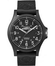 Timex TW4B08100 Mężczyźni wyprawa czarna tkanina pasek zegarka